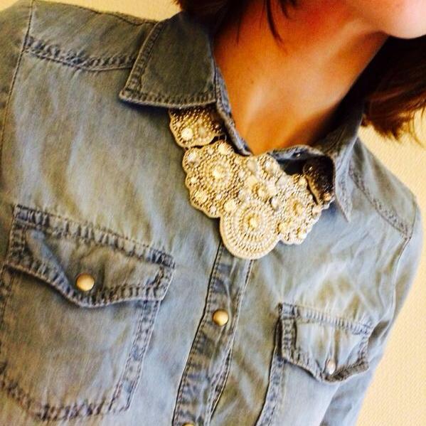 chemise et collier h&m